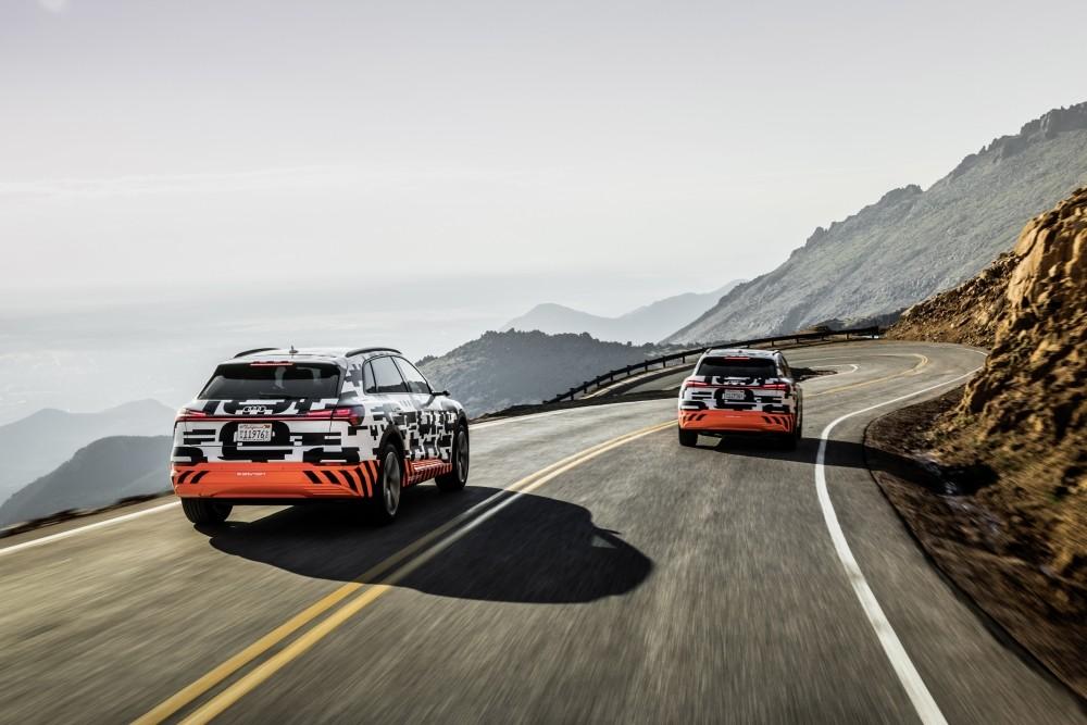 Testy Audi E-Tron - test rekuperacji w prototypie na Pikes Peak