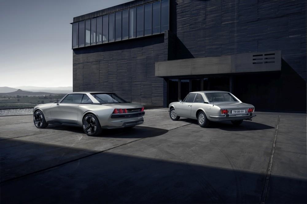 Elektryczny Peugeot e-Legend Concept - tył