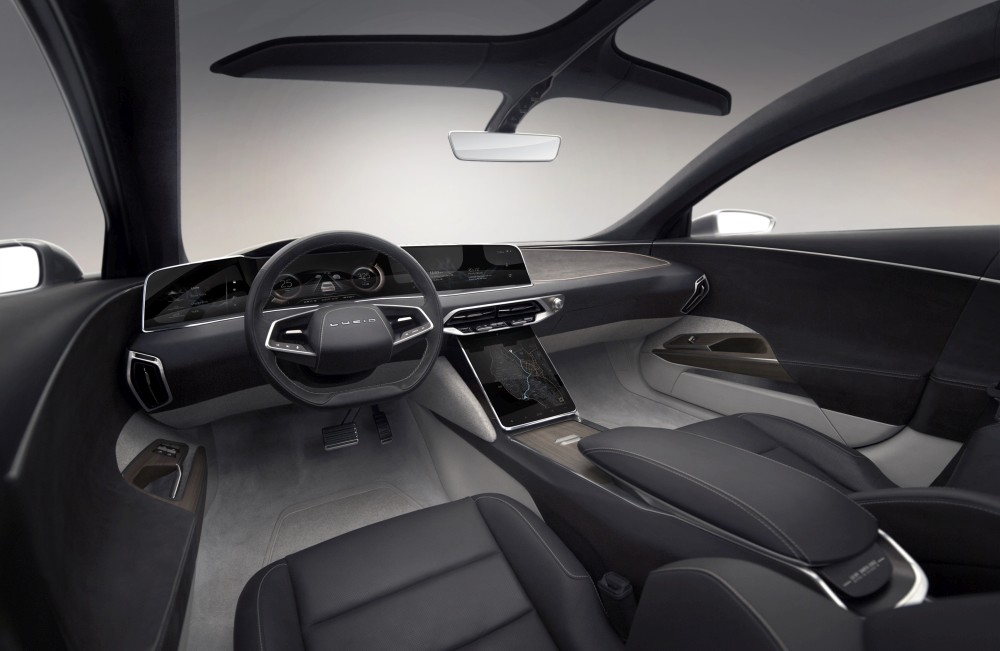 Samochód elektryczny Lucid Air - środek przód