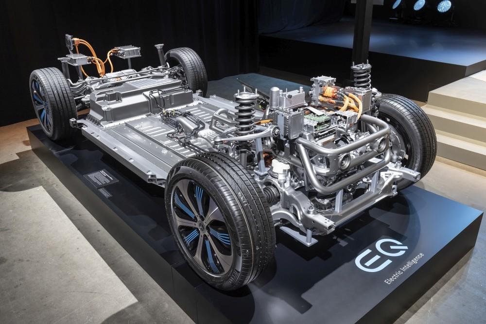 Elektryczny Mercedes EQC 400 - model podwozia