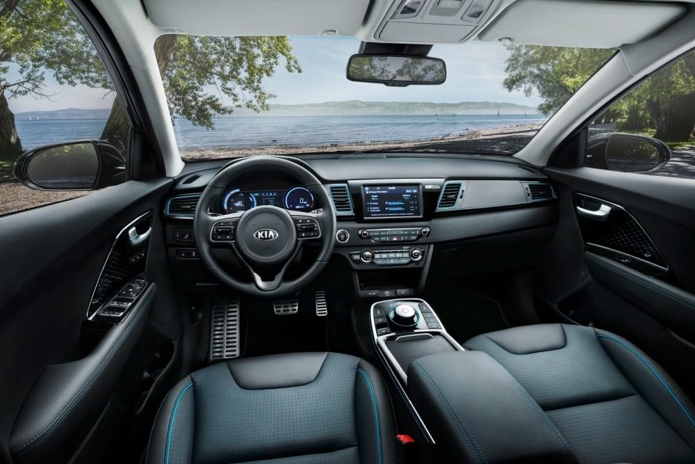 Samochód elektryczny Kia e-Niro - wnętrze