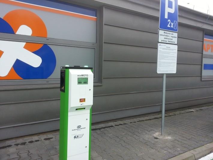 Stacje ładowania PKP - stacja ładowania Katowice Ligota