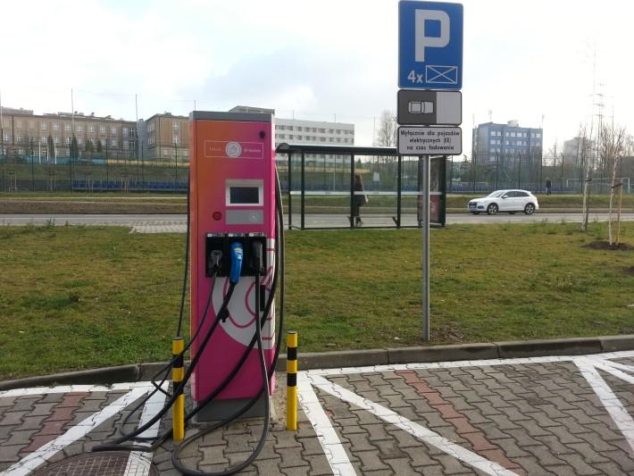 Stacje ładowania ING Tauron w Katowicach - stacja szybkiego ładowania
